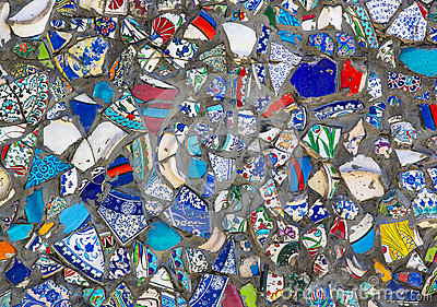 background-broken-plates-wall-ceramic-colored-fragments-74512299