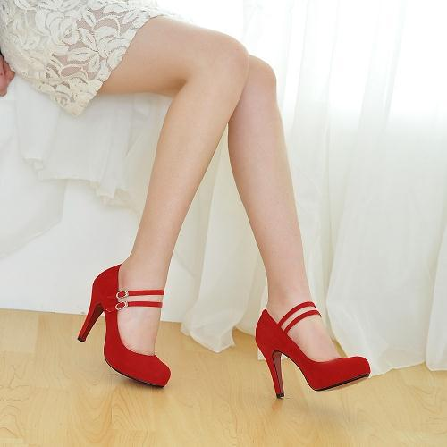 Hot-Selling-Mary-Jane-Red-Bottom-High-Heels-Women-Shoes-Fashion-Ankle-Strap-Thin-Heels-Women