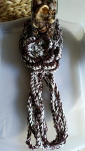 Fall Color Crochet Chain necklace scarf