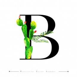 alphabet-letter-b-with-watercolor-cactus_1340-9182
