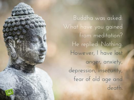 Buddha-quote-about-the-benefits-of-mediation-on-photo-of-a-statue